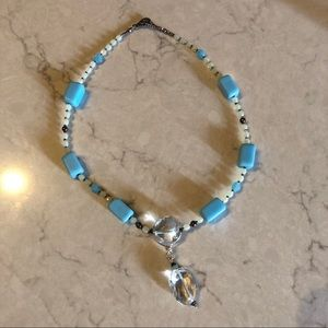 Jewelry - Beautiful Heavy Blue Stone Handmade Necklace